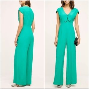 Harlyn Green Knotted Wide Leg Jumpsuit Large